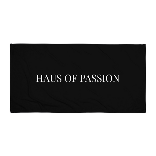 HAUS OF PASSION Classic Towel Black