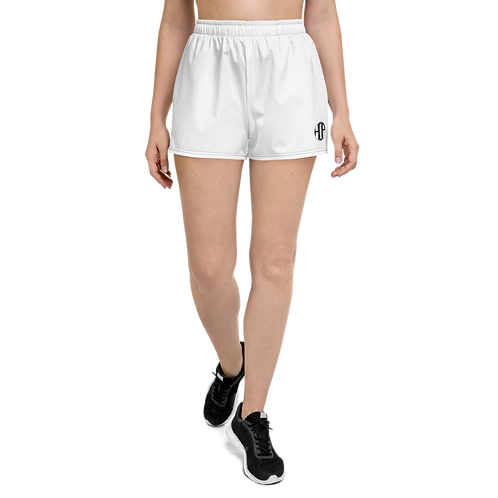 Women's Athletic Short Shorts White HAUS OF PASSION