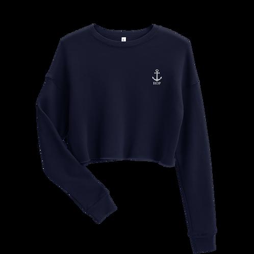 Anchor Crop Sweatshirt