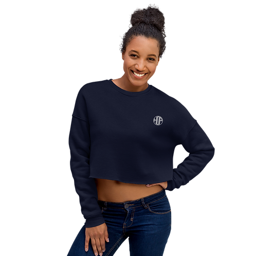 HOP Navy Crop Sweatshirt