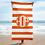 Thumbnail: Orange White Striped Towel