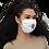 Thumbnail: HAUS OF PASSION Logo Face mask white