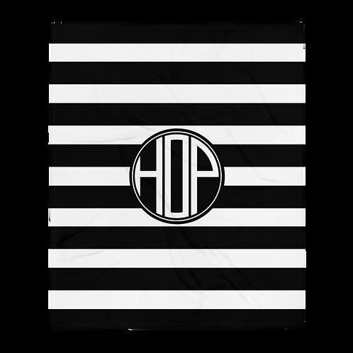 HOP Fluffy Blanket Black/White
