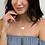 Thumbnail: CURSUM PERFICIO Engraved Silver Heart Necklace