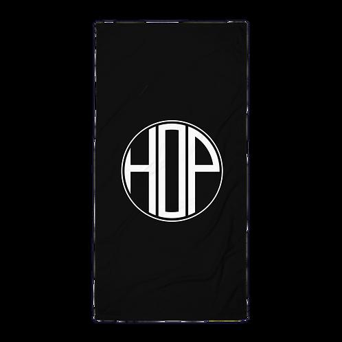 HAUS OF PASSION Big Logo Black Towel