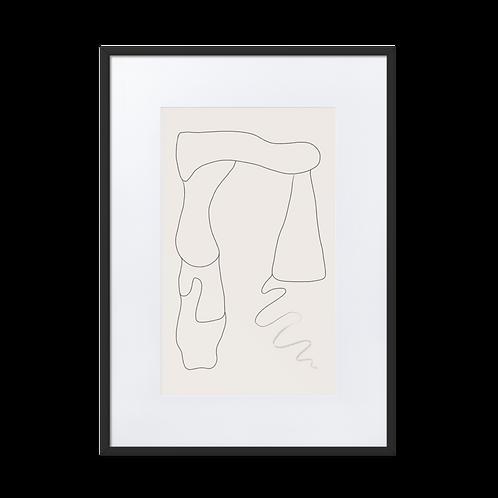 Lines Matte Paper Framed Illustration Poster