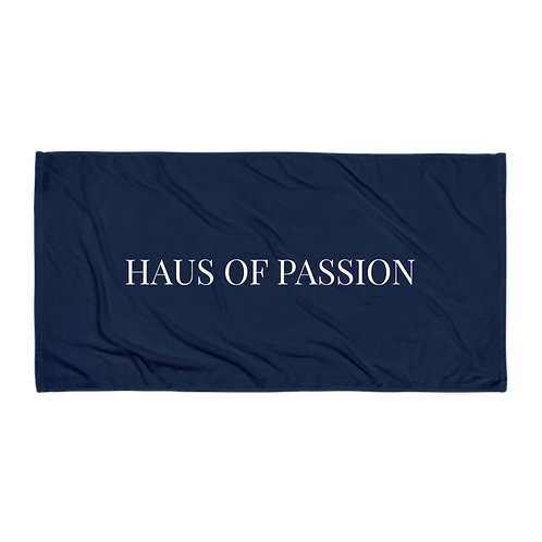 HAUS OF PASSION Classic Towel Navy