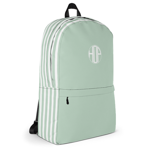 Light Green/White Backpack