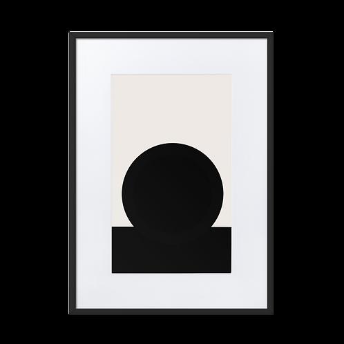 Black Meets White Matte Paper Framed Illustration Poster