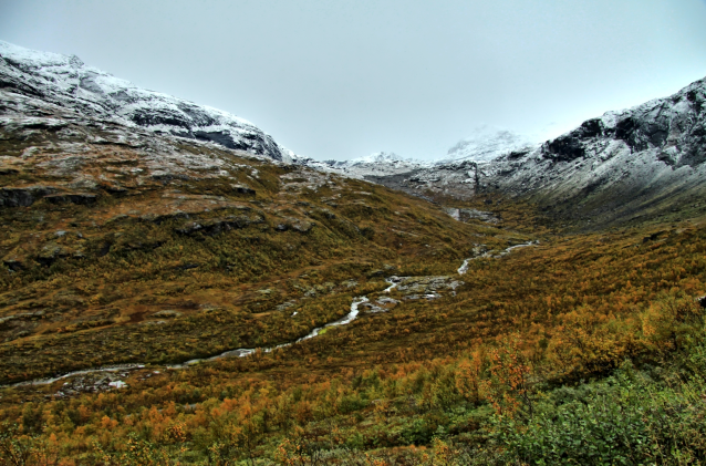 Einsame Bergwelt im Gråfjellet