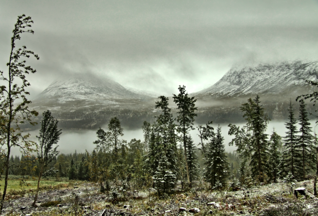 Früher Winter in Norwegen