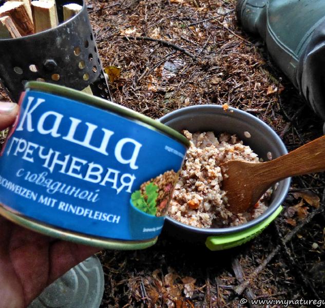 Wenn schon leben wie ein russischer Soldat im Felde, dann stilecht mit russischen Dosenfutter