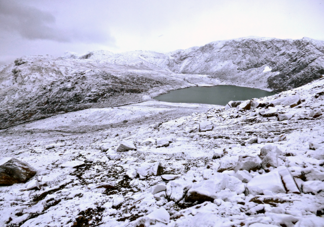 Im Gebirge herrscht schon Winter