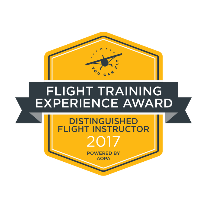 LOCAL INSTRUCTOR PILOT RECOGNIZED FOR FLIGHT TRAINING EXCELLENCE BY NATIONAL ASSOCIATION
