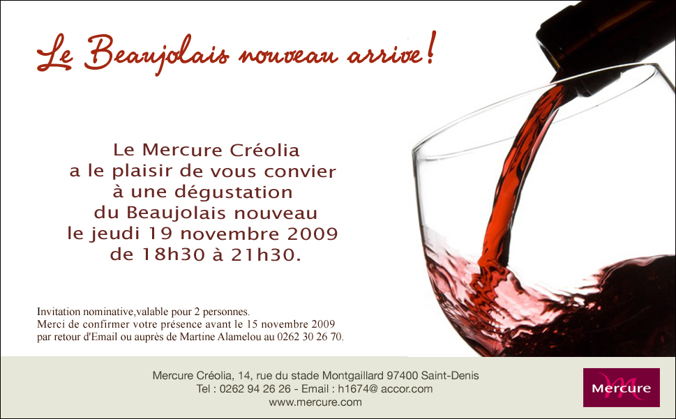 Invitation Beaujolais