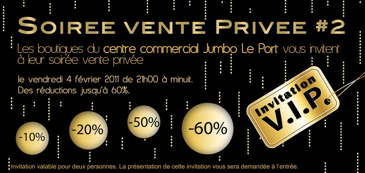 Carton invitation vente privée