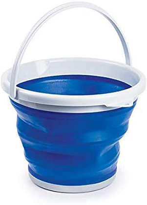 Collapsible Fishing Bucket ,Durable, Lightweight, Space-Saving Rubber Bucket 15L