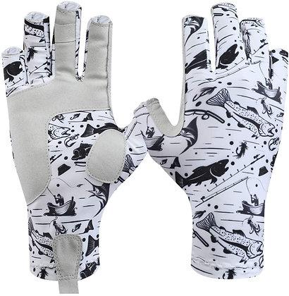 Fingerless Gloves Sun Protection Unisex for Outdoor Fishing