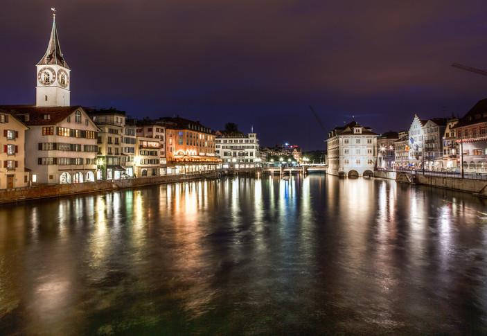 Limmat River Zurich, Switzerland