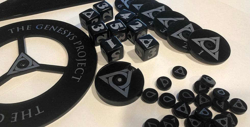 The Genesys Project Full Dice and Template Set
