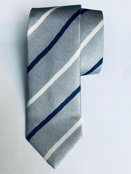 Grey with Stripes Tie