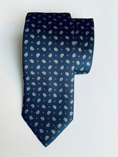 Blue Indian Leaf Tie