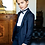 Thumbnail: One Button Tuxedo Velvet Jacket and Bowtie. Made in Italy.