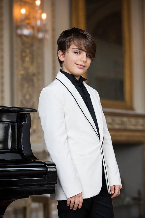One Button Tuxedo Velvet Jacket. Made in Italy.
