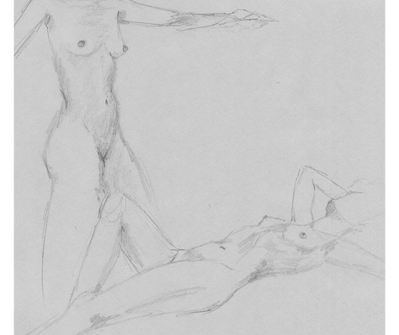 Pencil on drafting paper. 201