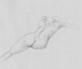Pencil on drafting paper. 20