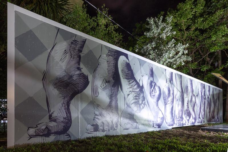 Project COAT mural Miami Hispanic Cultural Arts Center - Martin Ron Mural
