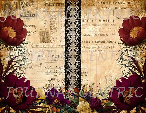 Midnight Flowers Digital Journal Kit