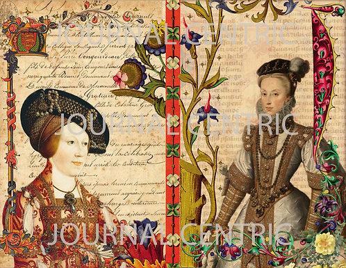 Medieval Ladies Digital Journal Kit