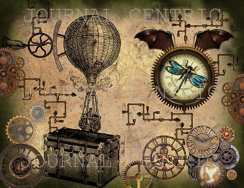 Grungy Steampunk Digital Journal Kit