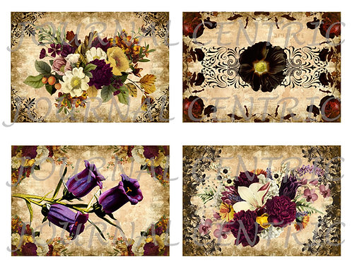 Midnight Flowers Addon Digital Journal Kit
