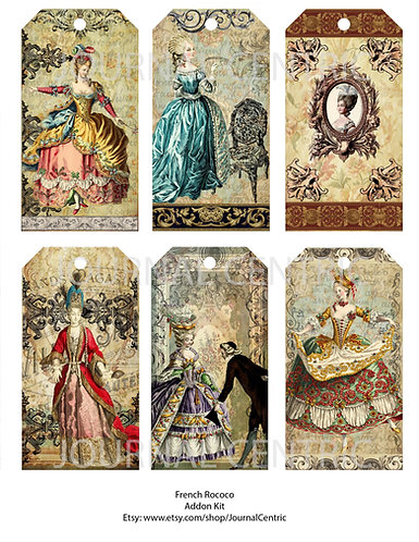 French Rococo Digital Journal Add-On Kit