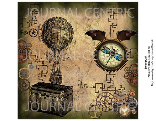 Grungy Steampunk Digital Kit: TN Size