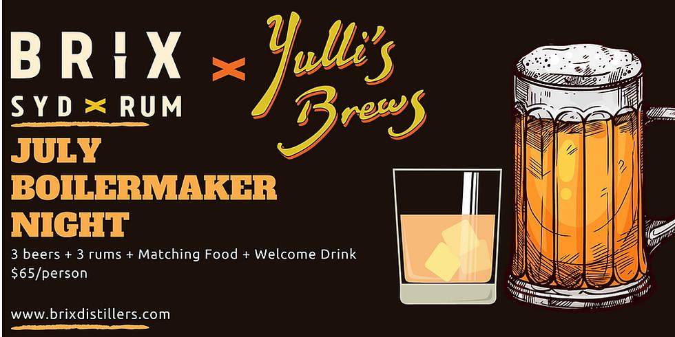 BRIX X YULLI'S BREWING Boilermaker Night - (New Date TBD)