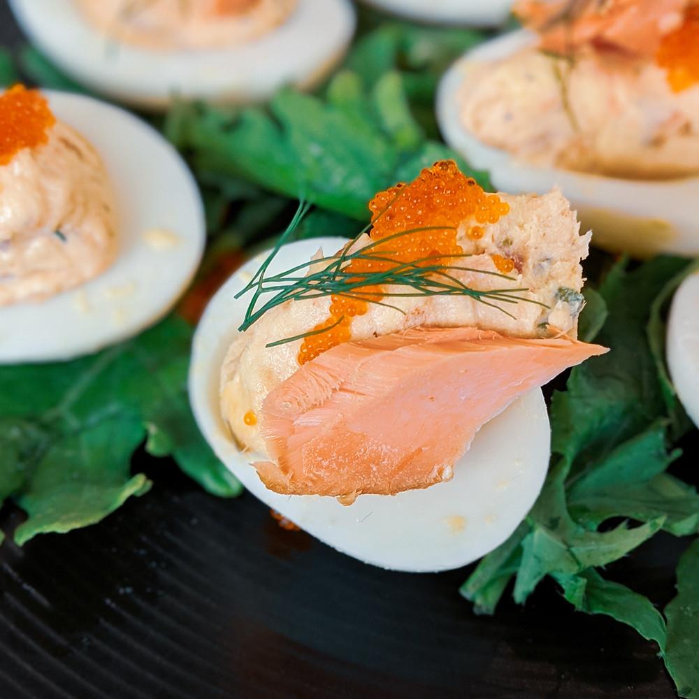 Smoked Salmon Deviled Egg