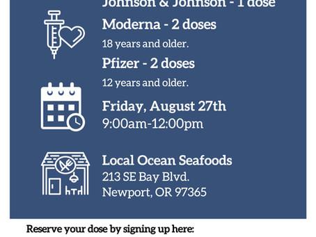 Local Ocean Vaccine Clinic - August 27th, 2021
