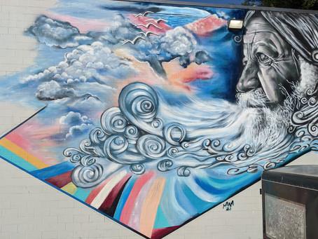 Memorial Mural to Pogo