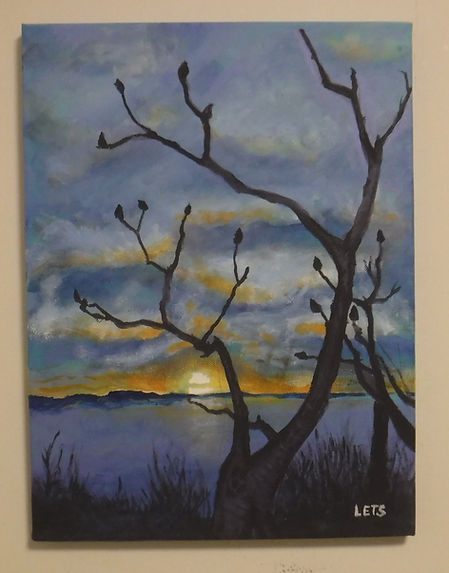 Sunset at Webb Park Acrylic.jpg