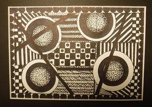 Laura 's Black Sharpie shapes inspired b