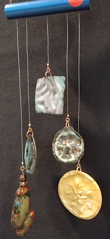 Martha Formed copper enameled and brass