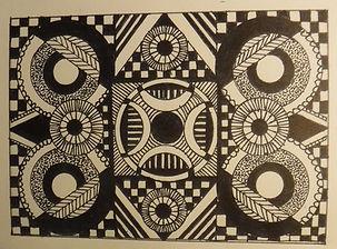 Laura's black shapie circles upon circle