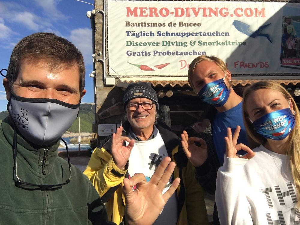 Mero Diving, Restaurant Sa Cova y Agustí Torres de Shark Med