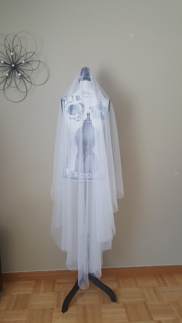 English net drop veil