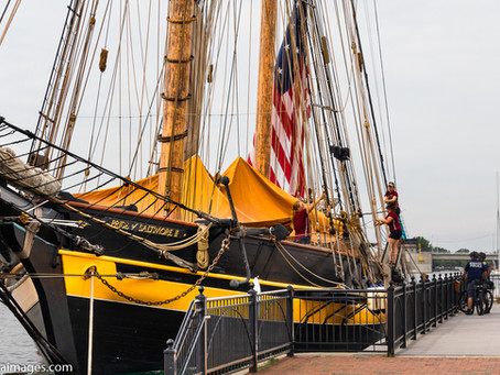 The Tall Ships celebration in Bay City, Michigan. (Part 1, watching the ships arrive.)