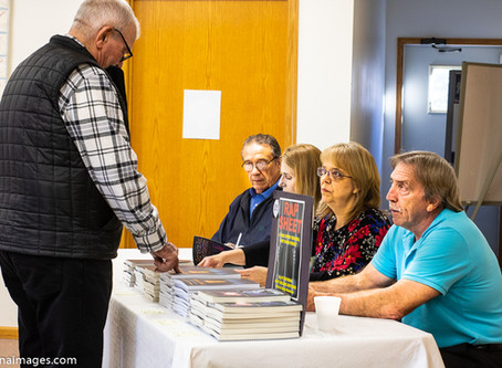 We attended the Gitchie Girl Uncovered book signing and pie social in Inwood.