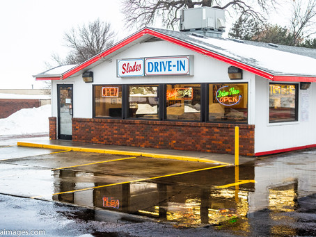 Slade's Drive in  of Rock Rapids, Iowa opens for their 2019 season, and we were customer #1